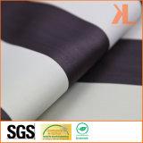 폴리에스테 백색 브라운 줄무늬 Twilled 본래부터 방연제 내화성이 있는 정전 직물
