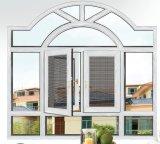 두 배 유리를 가진 알루미늄 단면도 금속 여닫이 창 Windows