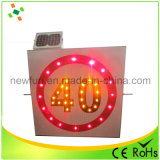 Segnale stradale solare di limite di velocità dell'alluminio 600mm LED