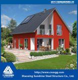 Chalet ligero residencial prefabricado de la estructura de acero con acero modificado para requisitos particulares