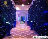 LED Cortina Estrela da Luz azul e branco para decoração de casamento