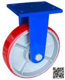 8 Zoll Extrahochleistungs-PU auf Eisen-steifer Fußrolle