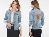 Señoras Denim Jacket chaqueta de mezclilla Loro Coleccionables