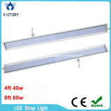 Alto Lúmen 130lm/W LED Linear lista UL 4ft 40W luz de LED