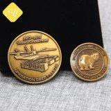 Kundenspezifische Laufkatze-Kräuselung Ethereum Herausforderungs-Metallmünzen-Großhandelsantike