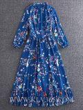 Form-Frauen-Silk Blumen-Abschlussball-Cocktail-Abend-Kleid