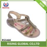 Стильный девочек обувь PU верхний TPR плоские единственной детей сандалии