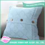 Coperchio normale blu decorativo del cuscino di manovella del cotone della cassa all'ingrosso dell'ammortizzatore