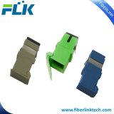 Adaptateur duplex optique de la fibre LC de télécommunication avec l'obturateur automatique