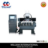 Máquina de madera del CNC del uso multi con eje rotatorio