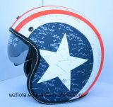 ECE에 의하여 승인되는 관례 열려있는 마스크 기관자전차 포도 수확 헬멧 단 하나 렌즈