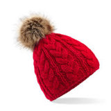 Chapeaux fabriqués à la main de crochet/chaussette d'intérieur avec le Beanie de Pompom/Knit