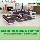 Jeu bon marché de luxe moderne de sofa de cuir véritable des prix de Dubaï