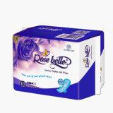 Serviettes hygiéniques menstruelles femelles remplaçables de coton/garniture sanitaire de femmes/fournisseuse de Madame essuie-main sanitaire en Chine avec le prix bon marché