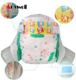 Tecidos macios absorventes super descartáveis do bebê do algodão