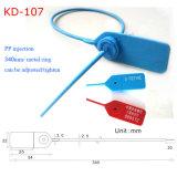 Sello Plastico De Seguridad de Contenedores de plástico Precinto de seguridad (KD-107).