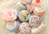 Impressão de flores frescas e puro pequena caixa de estanho Kawaii Organizador Trinket Cosméticos Mac Mini-contentor para chá Pill Caixa de moedas