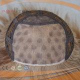 Parrucca mezza del merletto fatto a macchina poco costoso del Bob (PPG-l-0068)