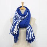 Unisex шарф зимы теплой связанный нашивкой (SK175)