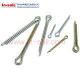 Kohlenstoffstahl-Splinte spalteten Stifte ISO1234 DIN1234 auf