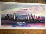 Фиолетовый цвет абстрактный пейзаж картины маслом искусства стран Северной Европы