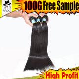 Человеческие волосы девственницы бразильское прямое волнистого