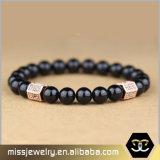 Natürliches Achat-Stein-Raupe-Armband für Männer Mjb034