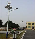 Poupança de energia solar eólica híbrido no 20W~200W Luz Rua Solar