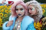 Decalcomanie delle donne di arte di corpo dei Rhinestones di scintillio di bellezza di trucco dell'autoadesivo del tatuaggio dei gioielli del volto nuovo (SR-16)