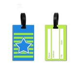 Commerce de gros Carton étanche personnalisée 3D en PVC souple Luggage Tag pour l'ID de balise du nom de la carte de voyage et de carte d'embarquement