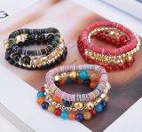 Braccialetto della Boemia & braccialetto bordati retro multi righe, monili di modo