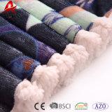 Одеяло 100% Micromink полиэфира супер мягкое напечатанное с Sherpa