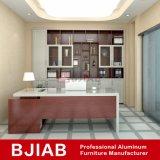Carvalho branco personalizadas e Vermelho Metal Alumínio mobiliário de teca Estante