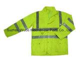 Upa022 полиэстер Оксфорд ПВХ/PU Non-Breathable/PU Дышащий слой светоотражающей ткани Parka трость Worksuit