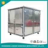 Marca Lushun 9000 litros/h el doble de la etapa de los residuos de aceite de transformador de alto vacío purificador y regeneración de aceites usados