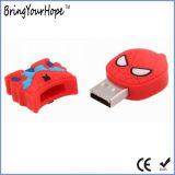 Spiderman-Form USB-greller Stock im 2D Entwurf (XH-USB-187)