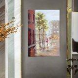 Scène de rue impressionnant de haute qualité à la main de peintures d'huile pour la décoration murale