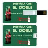 Movimentação do flash do USB do cartão de crédito dos presentes do negócio com logotipo personalizado