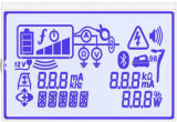 Stn blaues 128X32 LCD Baugruppen-Panel programmierbare LCD-Bildschirmanzeige