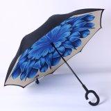 Hete Dubbele Laag Omgekeerde Paraplu, anti-Uv Omgekeerde Paraplu voor het OpenluchtGebruik van de Regen van de Auto, de OpenluchtParaplu van het Golf van de Reclame
