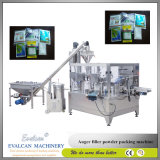 Prix rotatoire de machine à emballer de poudre automatique de Wheatgrass avec le remplissage de foreuse