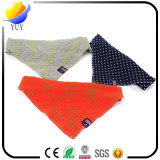 Produits triangulaires d'animal familier de Bandana de salive de coton de foulard de crabot d'essuie-main d'animal familier