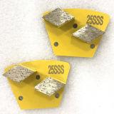 두 배는 사다리꼴 다이아몬드 금속 구체적인 지면 가는 디스크를 분단한다