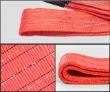 La eslinga de tejido de poliéster tejido plano, vidrio eslinga
