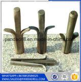 Pavimentazione i cunei e degli spessori d'acciaio del fenomeno della roccia dell'interruttore