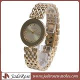 防水金時計、女性の水晶腕時計、ステンレス鋼の女性腕時計