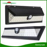 IP65 impermeabilizan la pared al aire libre de la lámpara solar del sensor de movimiento de 54 LED