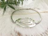 День Святого Валентина подарок серебряный позолоченный белого цвета большие глаза закрывается с медными Bangle формы для женщин