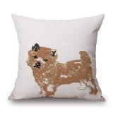 45X45cmのソファー(35C0270)のための美しいダックスフント犬のデジタルによって印刷されるクッションカバー
