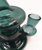 Mini-recycleur vaporisateur en verre vert pipes à eau en verre pour tuyaux de verre